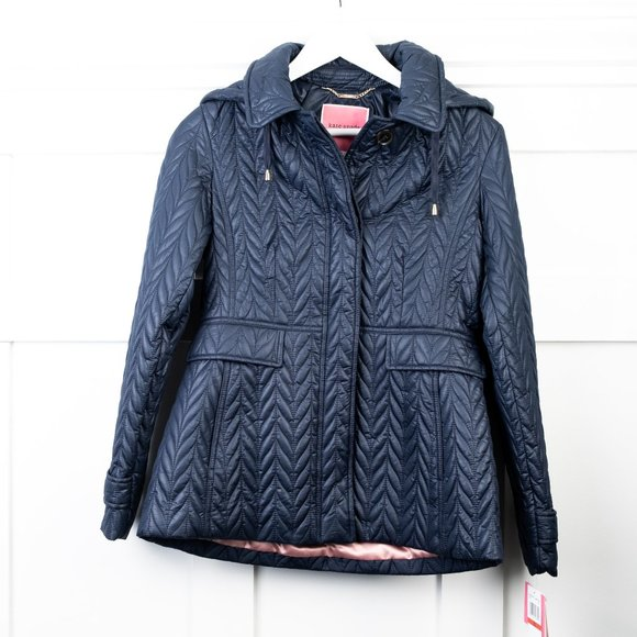 NEW Kate Spade quilted Navy jacket XS